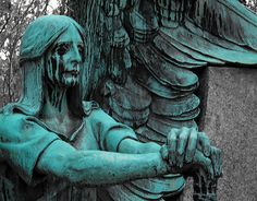 """Lakeview Cemetery.  I find this one to be a little creepy, but I love it.  It reminds me a lot Guillermo del Toro's """"The Strain"""" trilogy...there is a specific part in the book which makes me think of this angel."""