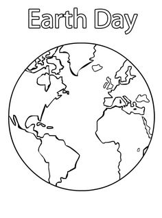 Free Earth Printable Outlines and Shape Book Writing Pages http