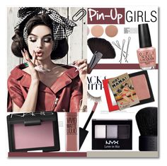 """""""Pin-Up Girls"""" by chocolate-addicted-angel ❤ liked on Polyvore featuring beauty, Monki, Maybelline, NARS Cosmetics, MAKE UP FOR EVER, Deborah Lippmann, Benefit, NYX, OPI and Summer"""