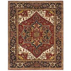Ecarpetgallery Hand-knotted Serapi Heritage Orange Wool Rug (8'1 x 9'10) | Overstock.com Shopping - The Best Deals on One Of A Kind Rugs