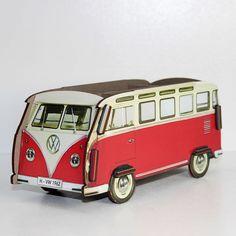 Werkhaus Shop - Vorderseite: Stiftebox VW T1 - Rot