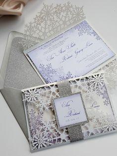 Sew unique snowflake laser cut invitation snowflake winter invitations snowflakes laser cut wedding invitation bespoke poinsettia design sku poicla01 stopboris Choice Image