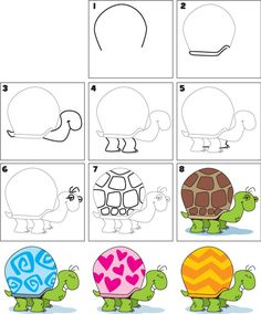 How To Draw a Turtle | Kid Scoop