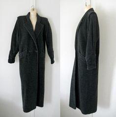 Plus Size Winter Coat XXL Coat XL Coat Gray by TheVilleVintage, $125.00