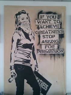 If you want to achieve greatness... Graf is the modern riot grrl