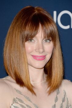 My new haircut minus the bangs.  My hair is darker red though.   I love it.