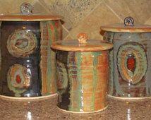 Handmade 9 inch XXL Ceramic Kitchen Canister