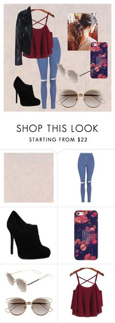 """Sem título #21"" by jacquesilva on Polyvore featuring beleza, Topshop, Casetify e Christian Dior"