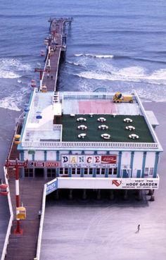 Florida Memory - Bird's eye view of the pier in Daytona Beach, Florida.