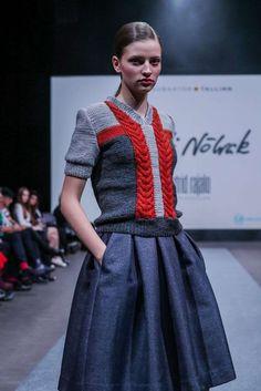 Tallinn Creative Incubator: Raili Nõlvak Primavera/Estate Womenswear - Fashion Week, Pagina 04 ( Italia - look Lux Fashion, Fashion Week, Fashion 2017, Fashion Outfits, Knitwear Fashion, Knit Fashion, Chunky Knitwear, Skirts With Pockets, Knitting Designs