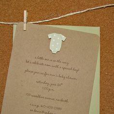 Onesie #BabyShower invitation