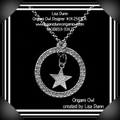 Origami Owl crystal window frame and core star necklace