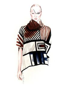 Luis Buchinho Fall Winter 2015/16 fashion illustration by António Soares