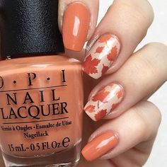 nail-art-designs-fautumn-leaf-nail-art-in-opi-pumpkin-nail-color