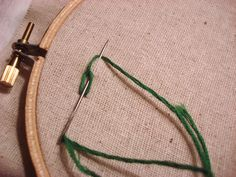 Stitching a hand embroidered chain stitch
