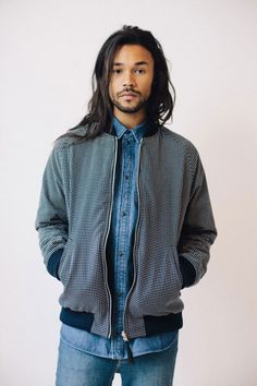 Jacket denim Style streetstyle hair beard
