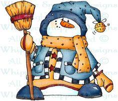 Riordan - Snowmen Images - Snowmen - Rubber Stamps - Shop