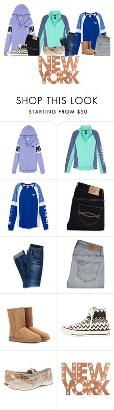 """""""Ok, this isn't as good as I thought it was"""" by flroasburn ❤ liked on Polyvore featuring Abercrombie & Fitch, Hudson Jeans, UGG Australia, Converse, Sperry Top-Sider, Dot & Bo, women's clothing, women's fashion, women and female"""