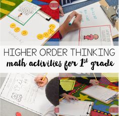 Higher order  thinking math activities for each Common Core math domain in 1st grade!