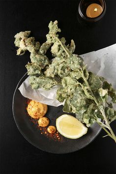 Check out the tempura saltbush. Whole branches of the scrubby plant are deep-fried and served with a cheek of lemon. Pluck the tender velvety leaves and run them through a side of spicy mayo. Keto Recipes, Snack Recipes, Snacks, Tempura, Best Dishes, Palak Paneer, Branches, The Best, Fries