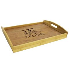 Personalized Wood Serving Tray, Serving Tray with Handles, Wood Serving Tray, Custom Serving Tray, W Serving Trays With Handles, Serving Tray Wood, Kitchen Tray, Food Trays, Solid Oak, Afternoon Tea, House Warming, Holiday Gifts, Personalized Gifts