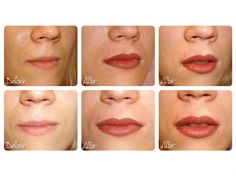BEFORE & AFTER - SEMI PERMANENT MAKE UP LIPS