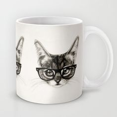 Because cats in glasses. Piddleworth Mug Cat Lover Gifts, Cat Gifts, Cat Lovers, Funny Coffee Cups, Funny Mugs, Tea Mugs, Coffee Mugs, Isaiah Stephens, Cat Mug