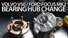 How to replace front bearing hub in #Volvo #C30 #S40 #V50 #C70 and #Ford #Focus MK2. #cars #maintenance #service #tutorial