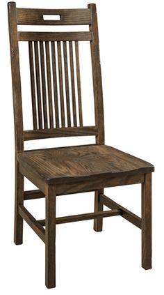 You'll save on every piece of furniture at Amish Outlet Store! We custom make every item, and you can get the Bayhill Chair with any wood and stain. Shop now! Solid Wood Dining Chairs, Wood Chairs, Furniture Factory, Amish Furniture, Chair Types, Mortise And Tenon, Discount Furniture, Types Of Wood, Side Chairs