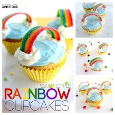 Super Simple Rainbow Cupcake Recipe