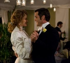 "A dance at their reception, Murdoch and Julia enjoy themselves.  ""Holy Matrimony, Murdoch"" (episode 804)"