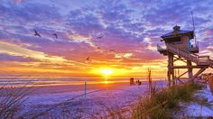 Ocean sunrise at the Flagler Avenue lifeguard station tower in New Smyrna Beach, Florida.____ **Pinterest fans 30% off special discount** Click the photo above and get the print or canvas at 30% off the regular sale price. Just use this discount code when ordering: KEYSJJ