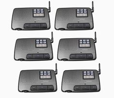 6-channel 6-station Digital Fm Wireless Intercom System for Home, Office, Shop Generic