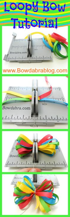 4 layered loopy Bowdabra bow tutorial- great for packages & easy to make!