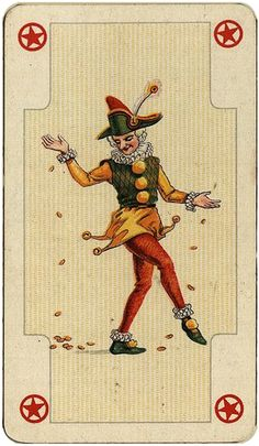 Joker Playing Card, Joker Card, Playing Cards, Divination Cards, Tarot Cards, Old Joker, Insane Clown, Image Notes, Aesthetic Themes
