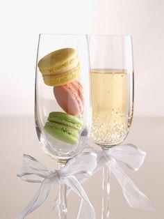 Macarons & champagne