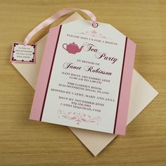 Tea Party Invitation Template: Tea Bag Cutout Jess, Think we can make this?