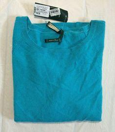 Lauren Ralph Lauren Raglan Ballet Neck Cashmere Wool Turquoise Sweater  #LaurenRalphLauren #BalletNeck