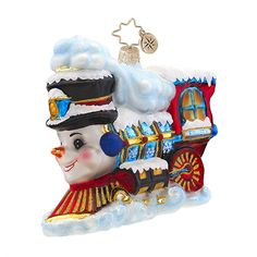"Christopher Radko Ornament - ""Frosty Express"""