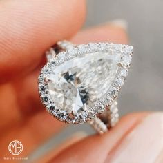Pear Shaped Engagement Rings, Engagement Ring Shapes, Designer Engagement Rings, Diamond Engagement Rings, Pear Shaped Diamond, Black Sandals, Ring Designs, Halo, Beautiful