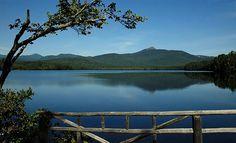 Mount Chocorua and Chocorua Lake in White Mountains, New Hampshire