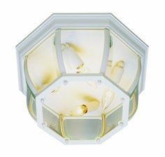Trans Globe Lighting 4907 WH 6-1/2-Inch 4-Light Outdoor Flushmount, White by Trans Globe Lighting. $54.00. From the Manufacturer                Trans Globe Lighting 4907 WH 6-1/2-Inch 4-Light Outdoor Flushmount, White                                    Product Description                From the Standard collection a classic beveled glass ceiling fixture for outdoor lighting. Contemporary style with three multi directional bulbs.