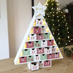 Personalised Festive Wooden Fill Your Own LED Advent Calendar Tree Christmas Tree Advent Calendar, Wooden Advent Calendar, Wooden Christmas Trees, Advent Calendars, Christmas Countdown, Christmas Things, Christmas Projects, Christmas Crafts, Christmas Decorations