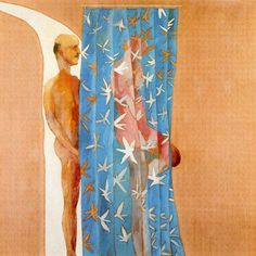 Man In Shower in Beverly Hills, 1964, by David Hockney, acrylic on canvas, 65 1/2 x 65 1/2 in.