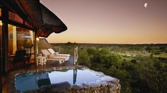 Leopard Hills - a breathtaking lodge situated in the 'Big Sabi Sand Game Reserve adjoining the world famous Kruger National Park. Hotel Guests can view Lions, Giraffes, and zebras from their open veranda! Kruger National Park, National Parks, Game Reserve South Africa, Sand Game, Game Lodge, Beste Hotels, Private Games, Luxury Pools, Africa Travel