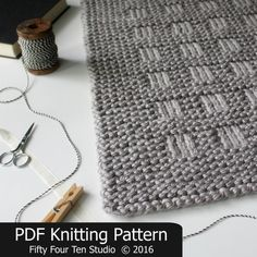The Westport Blanket KNITTING PATTERN is easy to knit with super bulky weight yarn and big needles. Pattern includes directions for FIVE sizes: Approximate sizes after blocking... = XL: 48.5 wide x 49 long = Large: 42.75 wide x 43 long = Medium: 39.75 wide x 40 long = Small