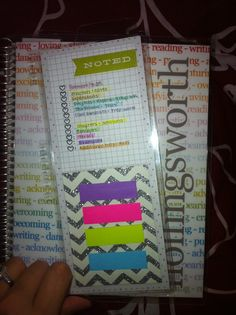 My color coding system on my snap in dashboard-Erin Condren Life Planner