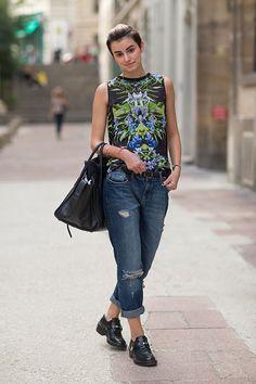 Street Style: Paris Fashion Week Spring 2014 - Anne Catherine Frey