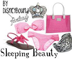 "Disney Princess ""Sleeping Beauty""-inspired swimwear; pink bikini. | Disney Bound."
