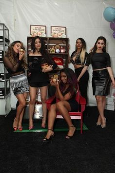Fifth Harmony backstage at the 2014 Teen Choice Awards.